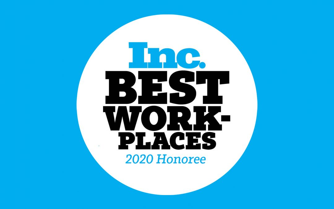 CoSourcing Partners Named One of INC. Magazine's Best Workplaces 2020